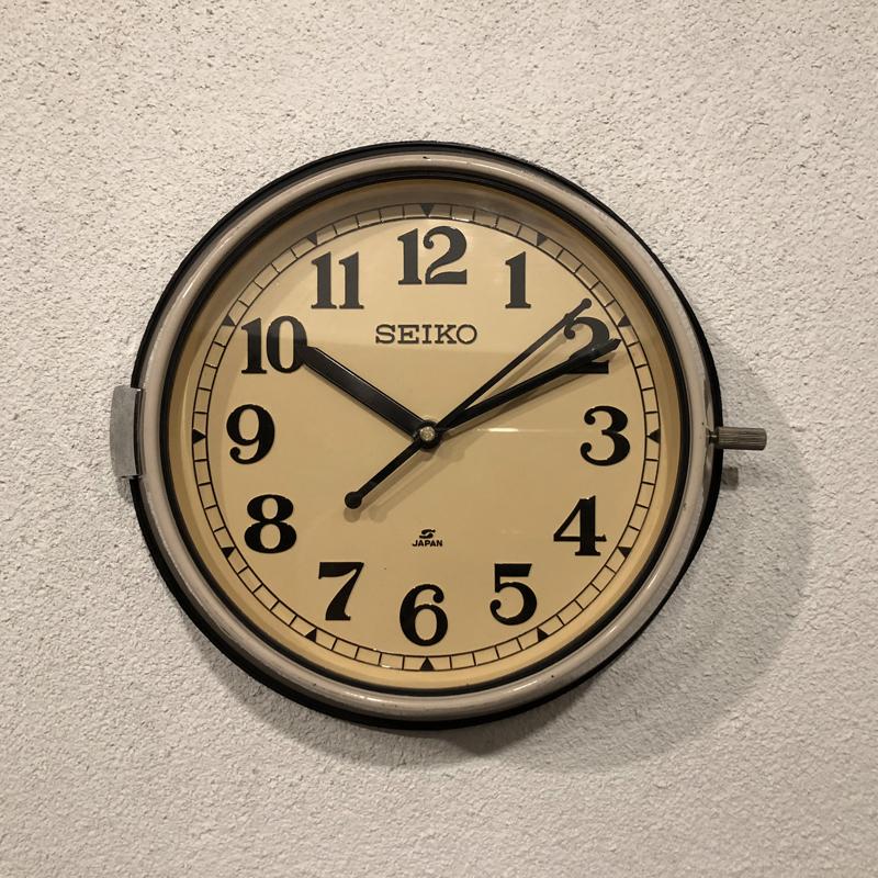 SEIKO 防塵時計(セイコー)壁掛け時計(バスクロック)