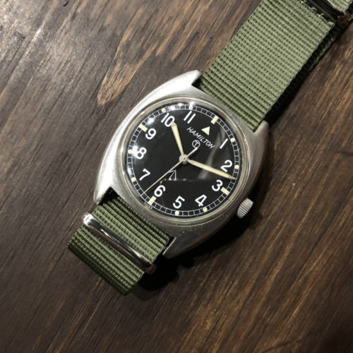 Hamilton W10 British Army(ハミルトン W10 英国陸軍腕時計)ミリタリーリストウォッチ