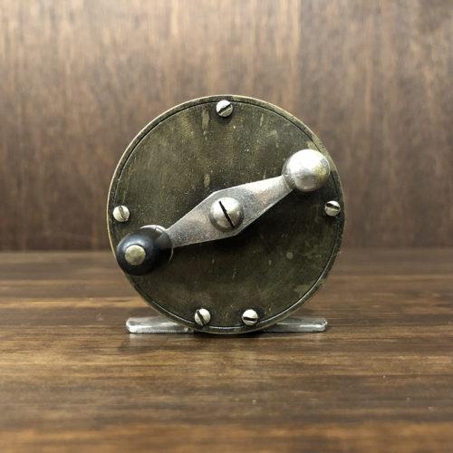 Allcocks (オールコックス) Brass Nickel Fly Reel 2-1/2インチ径(約径60mm) ブラス ニッケル アンティークフライリール