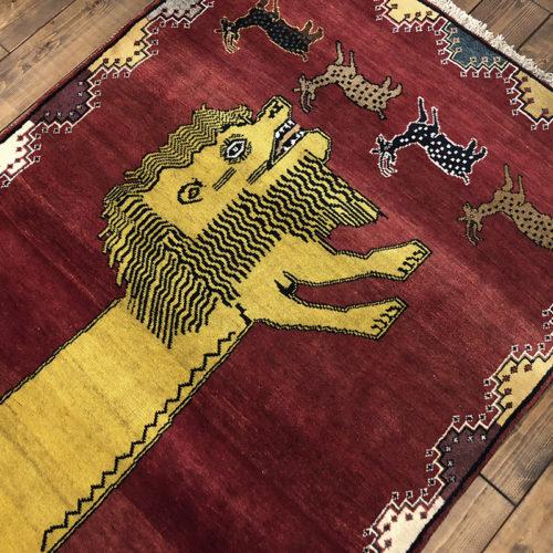 Lion Gabbeh(ライオン ギャッベ ラグ)ビンテージ カシュガイ手織りギャッベ 絨毯