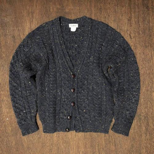 L.L. Bean Fisherman knit Cardigan (エルエルビーン フィッシャーマン ニット セーター カーディガン)旧タグ ビンテージ アイルランド産