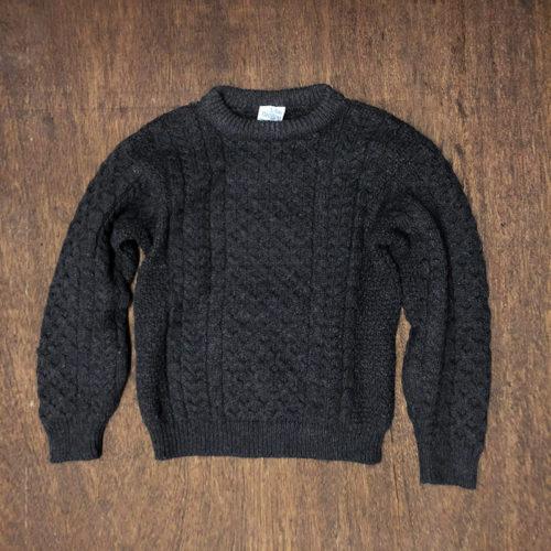 John Molloy Fisherman knit Dark Gray (ジョンモロイ フィッシャーマン セーター ニット)ダークグレー 旧タグ ビンテージアランセーター アイルランド産