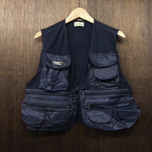 L.L.Bean Mesh Fishing Vest Navy(エルエルビーン メッシュ フィッシンング ベスト)ネイビー ビンテージモデル