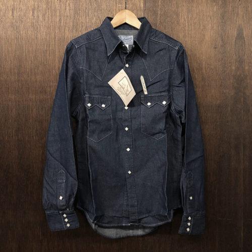 Rockmount Denim Western Shirt 640-DF(ロックマウント デニム ウェスタンシャツ)14.5 × 33.5(Sサイズ) 90sオールド デッドストック