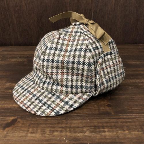 Barbour Tweed Deerstalker Hat 7-3/8(バブアー ツイード ディアストーカー ハット)ライトブラウンクラブチェックカラー 7-3/8サイズ オリジナル ビンテージ