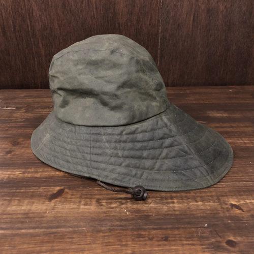 Barbour Waxed Canoe Fishing Rain Hat(バブアー ワックスド カヌー フィッシング レイン ハット)Sageカラー XLサイズ オリジナル ビンテージ