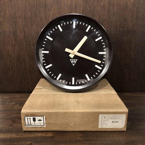 Pragotron Bakelite Wall Clock(パラゴトロン ベークライト ウォール クロック)ダークブラウンカラー クォーツ改装品 Dead Stock保管品 ビンテージクロック 壁掛け時計