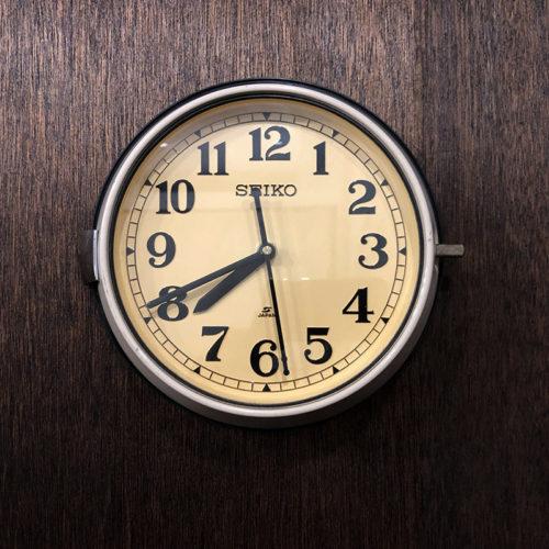 SEIKO(セイコー SEIKOSHA) 防塵時計 Bus Clock バスクロック 壁掛け時計 旧型 ビンテージクロック