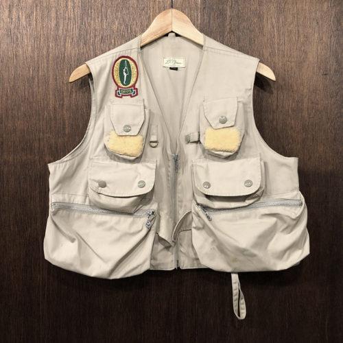 L.L.Bean Fishing Vest Orvis Patch(エルエルビーン フィッシンング ベスト オービス ワッペン付)タンカラー 筆記体タグ時代 ビンテージ オリジナル
