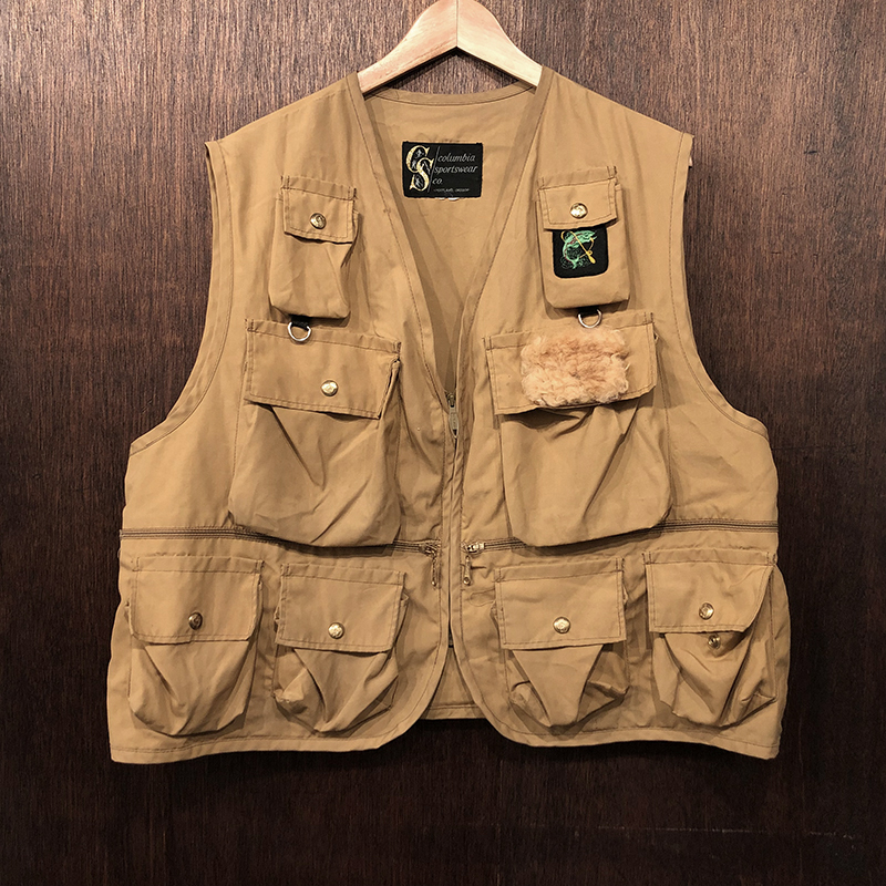 Columbia Sportswear Fishing Vest(コロンビア スポーツウェア フィッシンング ベスト)サンドカラー ビンテージベスト オリジナル