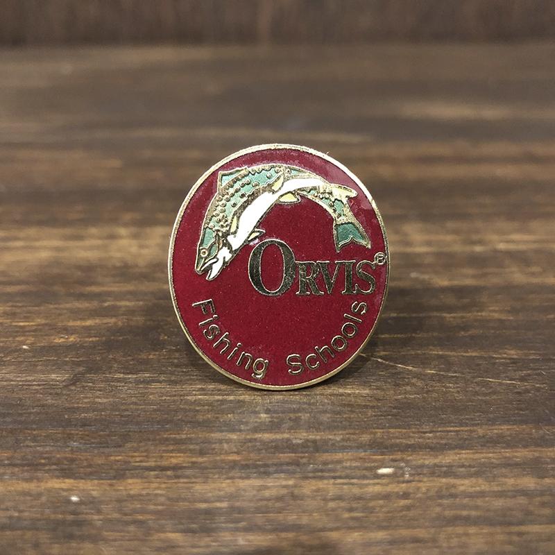 Orvis Original Pin Badge(オービス オリジナル ピンバッジ)オービス主宰 スクール証 バッジ カーマインカラー ビンテージ
