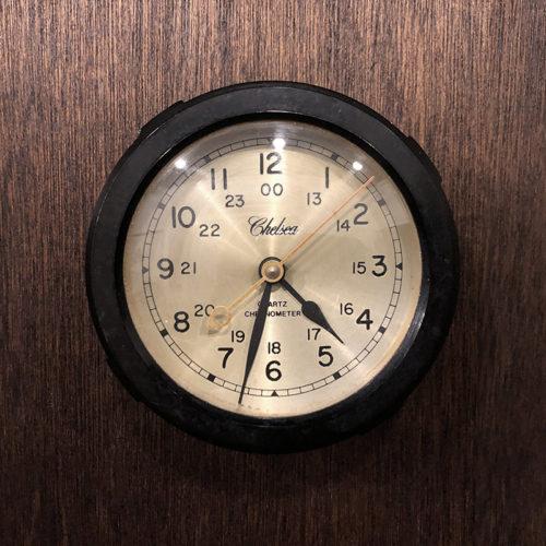 Chelsea Bakelite Ship Clock(チェルシー ベイクライト シップ クロック)船舶時計 ブラックボディカラー クォーツ初期時代モデル ビンテージクロック