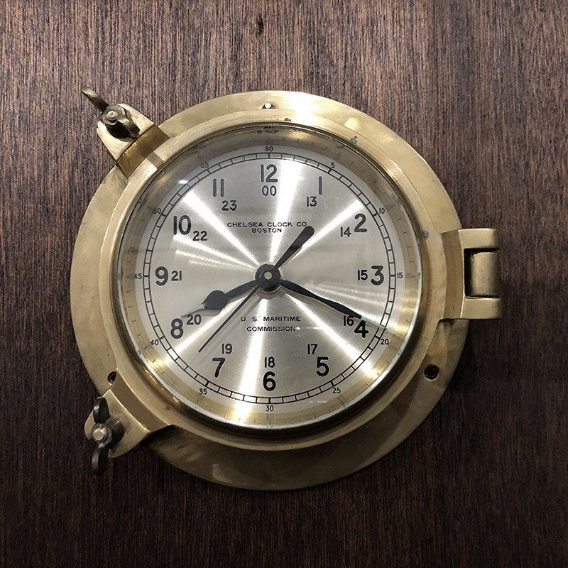 Chelsea Brass US Maritime Commission Ship Clock チェルシー ブラスケース 米国海事委供給 シップ クロック 船舶時計 真鍮無垢ケース ビンテージクロック