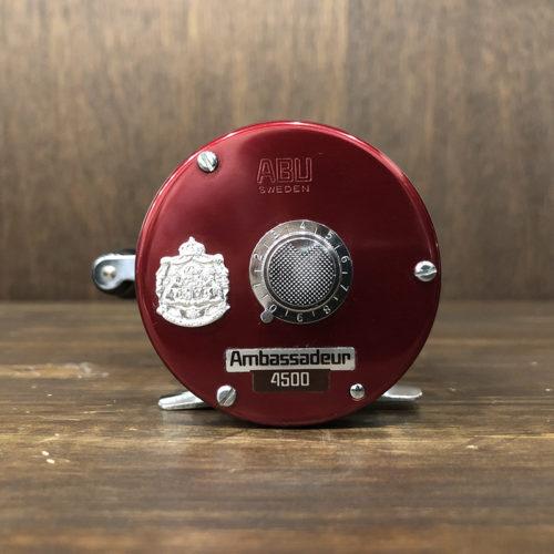 Abu Ambassadeur 4500 Cherry Red Bait Reel アブ アンバサダー 4500 チェリーレッド ベイトキャスティングリール ビンテージ オリジナル