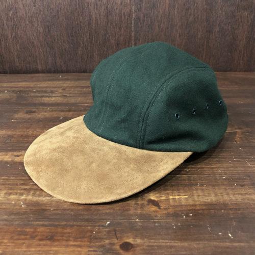 L.L.Bean Long Bill Wool & Buckskin Cap XL エルエルビーン ロングビル ウール バックスキン キャップ ダークグリーン×ブラウン XLサイズ アウトドアキャップ