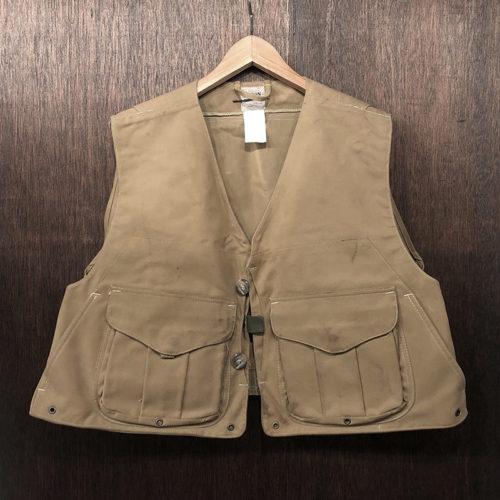 Filson Tincloth Oiled Vest 636 L Deadstock フィルソン ティンクロス オイルド ベスト タンカラー マッキーノハンドウォーマー デッドストック品