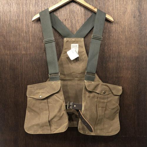 Filson Tincloth Game Bag Strap Vest Reg フィルソン ティンクロス ゲームバッグ ストラップ ベスト タンカラー オリジナル 未使用デッドストック
