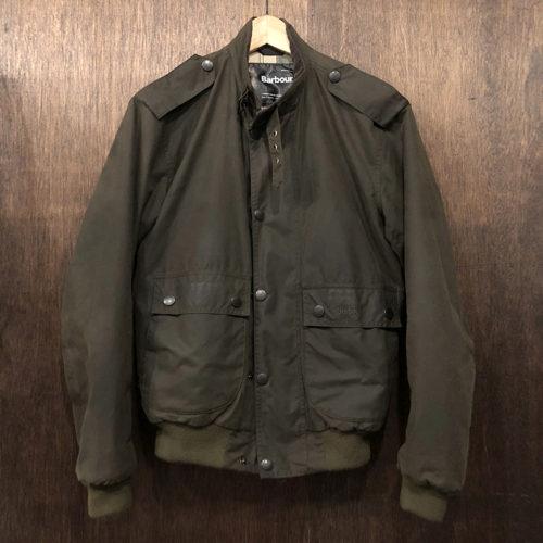 Barbour Wax Flyer Jacket Sage Small バブアー ワックス フライヤー ジャケット 3ワラント サイズSMALL セージ 三井物産国内正規品 英国製 オリジナル Made in England