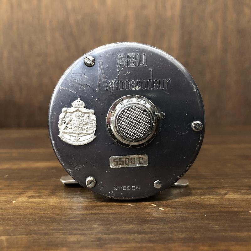 Abu Ambassadeur 5500C 1973 Big A アブ アンバサダー 5500C ビッグA刻印 ブルーグレーカラー ビンテージ ベイトキャスティングリール オリジナル