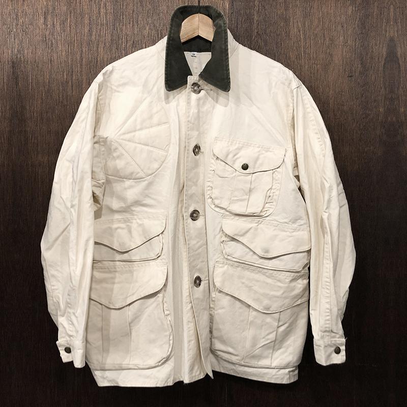 Filson Shelter Cloth Hunting Jacket Ivory M フィルソン シェルタークロス ハンティング ジャケット アイボリーカラー Mサイズ 旧モデル Made in USA オリジナル