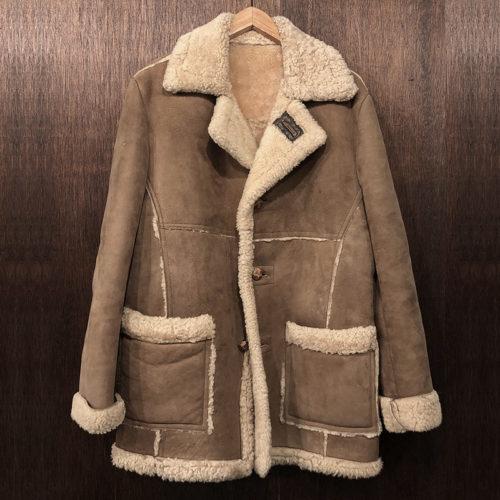 Schott Real Sheepskin Mouton Coat Jacket ショット リアルムートン シープスキン ボア コート ジャケット サイズML相当 ビンテージ