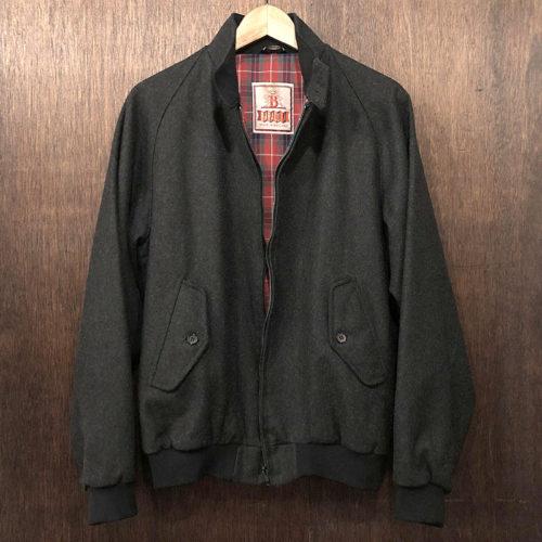 Baracuta G9 Harrington Jacket Wool Charcoal バラクータ ハリントン ジャケット Marcolana社ウール チャコール ダークグレイカラー サイズ38 英国 ENGLAND製 オリジナル