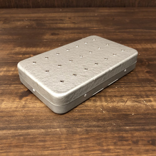 Perrine Dry&Wet Fly Box Hammertone Finish Silver パーリン アルミニウム ドライ&ウェット フライボックス ハンマートーンフィニッシュ シルバー ビンテージモデル