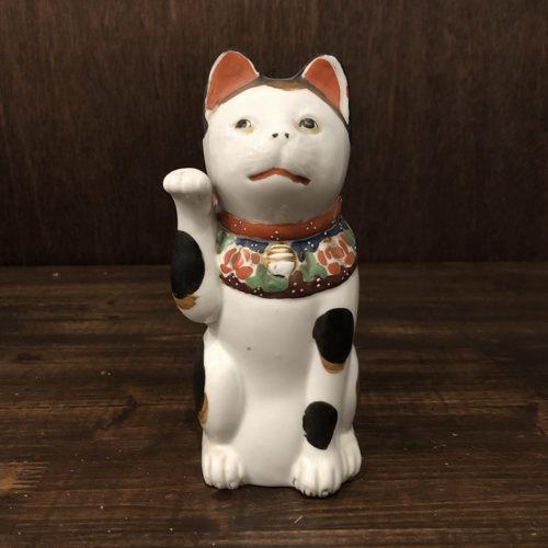 招き猫 古瀬戸 約21cm 完品 ジャパン アンティーク オリジナル