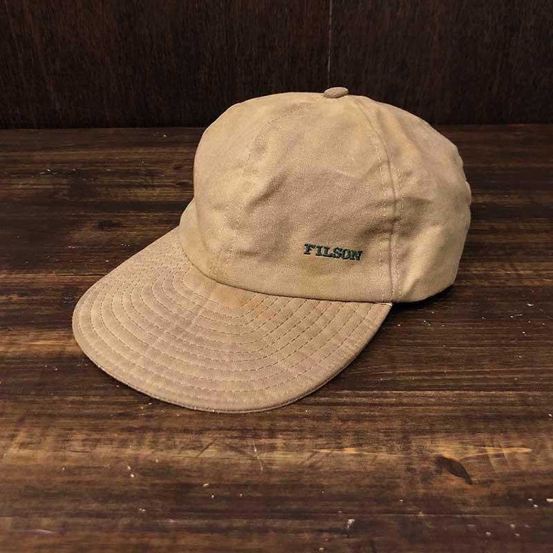 Filson Tin Cloth Sports Cap Free Size フィルソン ティンクロス スポーツ ダックビル キャップ タンカラー フリーサイズ ビンテージ