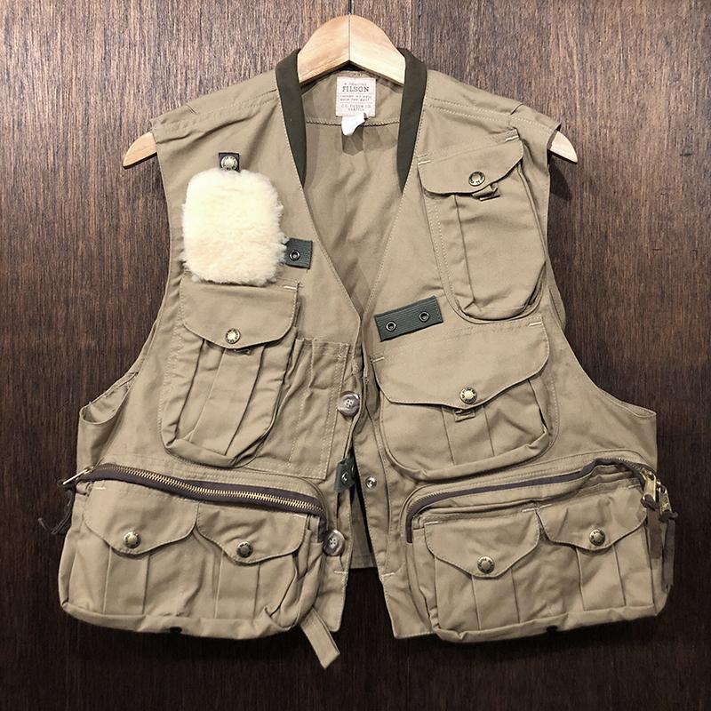 Filson Fly Fishing Guide Vest Tan Deadstock M フィルソン フライフィッシンング ガイド ベスト Mサイズ タンカラー 旧モデル デッドストック品