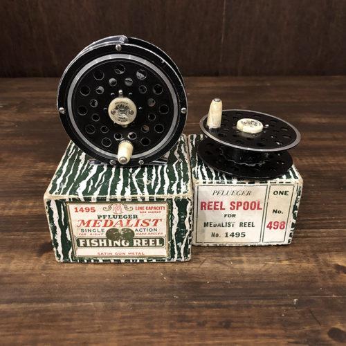 Pflueger Medalist 1495 Fly Reel with Spare Spool フルーガー メダリスト1495 スペアスプール付属 オリジナルボックス付き ビンテージ フライリール
