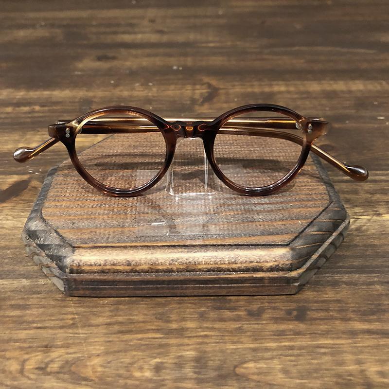 Vintage France Glasses Round Pant Amber 2dot Frame Deadstock ビンテージ フランス ラウンド パント 2ドット 眼鏡 フレーム デッドストック品