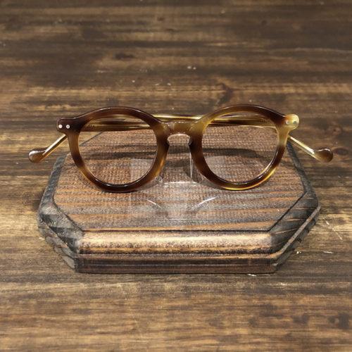 Vintage France Round Pant Honey Amber Glasses Frame Deadstock ビンテージ フランス ラウンド パント 2ドット 眼鏡 フレーム デッドストック品