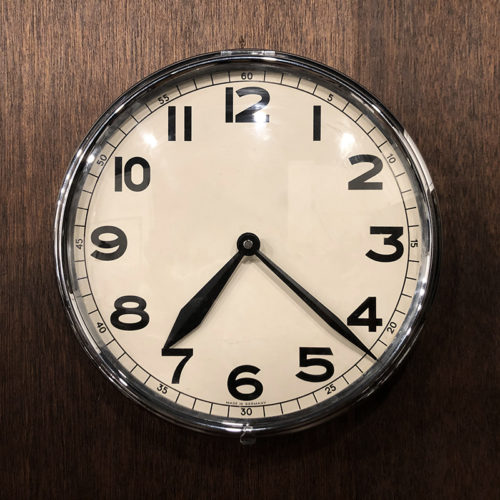 Germany Chrome Metal Front Open Case Wall Clock ビンテージ ドイツ製 クロームメタル オープンケース ウォール クロック クォーツ改装品 壁掛け時計