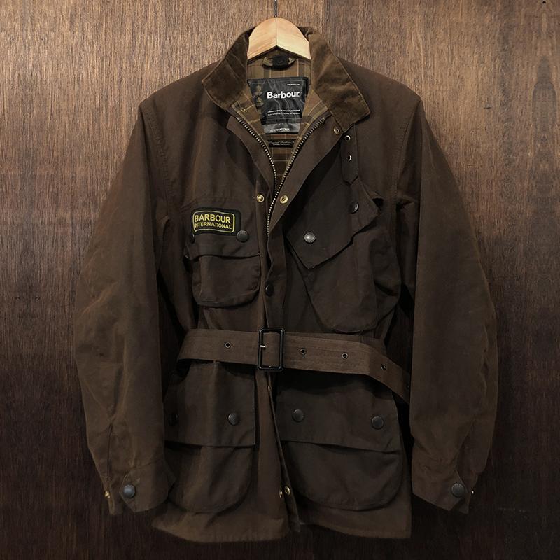 Barbour International Jacket Brown C36 Mint バブアー ビンテージ インターナショナル ジャケット ブラウン サイズC36 ギャランティカード他付属 英国製 ミントコンディション