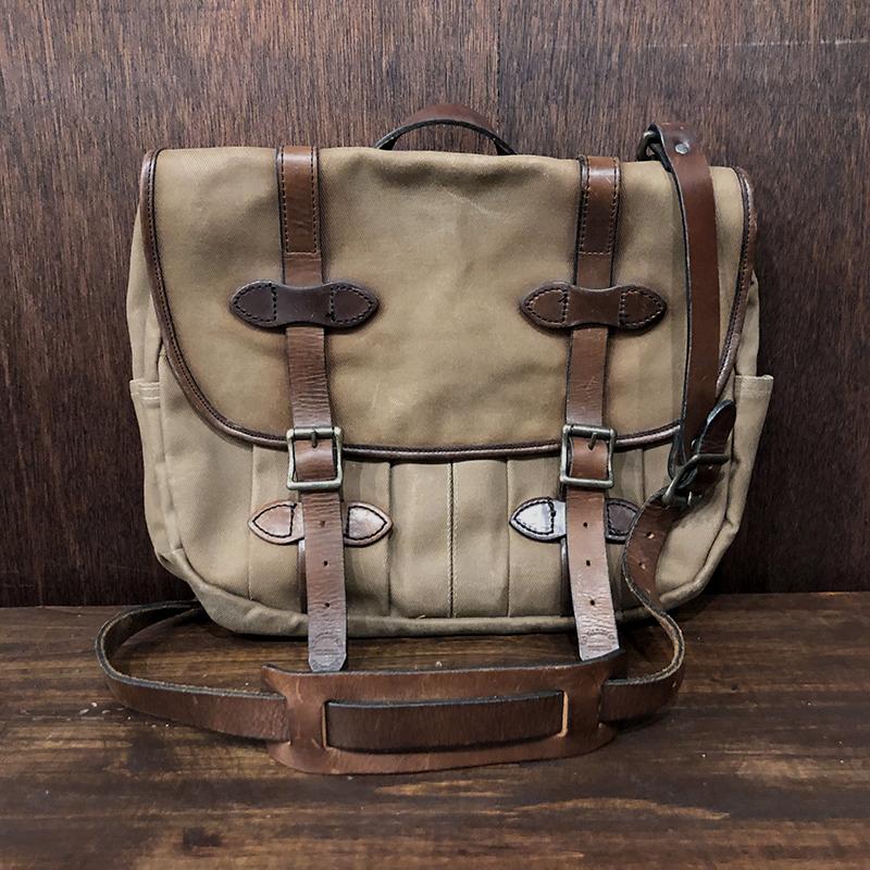 Filson Vintage Field Shoulder Bag Tan x Light Brown Leather フィルソン フィールド ショルダー バッグ タンカラー ライトブラウンレザー ビンテージ オールドモデル