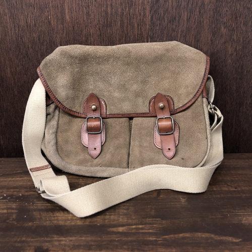 Vintage Suede x Bridle Leather Shoulder Fishing Bag ビンテージ スエード ブライドルレザー ショルダー フィッシング バッグ