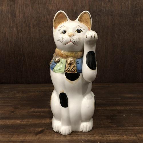 古瀬戸 骨董品 招き猫 27cm 完品 ジャパン アンティーク 稀少な大きなサイズ オリジナル