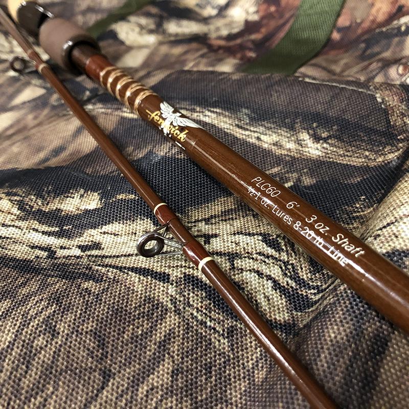 Fenwick PLC60 6ft Bait Casting Rod フェンウィック ベイトキャスティングロッド オールドグラス 6フィート 2ピース ビンテージ オールドロッド
