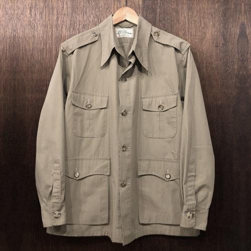 L.L. Bean Safari Half Coat Jacket 筆記体タグ Deadstock エルエルビーン サファリ ハーフコート ジャケット ビンテージ オリジナル デッドストック相当品