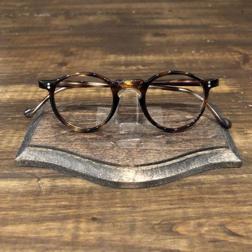 Vintage Glasses French Frame 2Dot Amber Round Panto Deadstock ビンテージ フレンチ 眼鏡フレーム アンバーデミ ラウンドパント デッドストック品