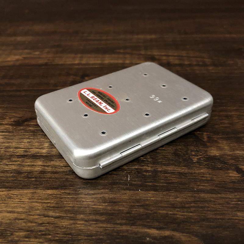 L.L. Bean By Perrine Fly Box #66 Silver エルエルビーン パーリン アルミニウム フライボックス シルバー コンパクトサイズ ビンテージ