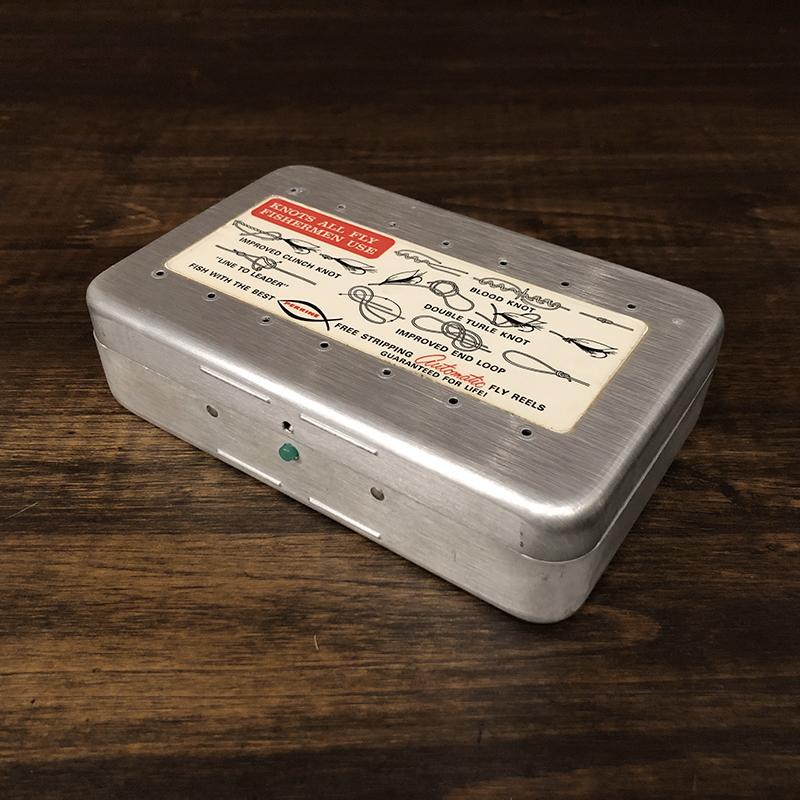Perrine Dry&Wet Fly Box #91 Large Size Silver パーリン アルミニウム ドライ&ウェット フライボックス シルバー ラージサイズ ビンテージ