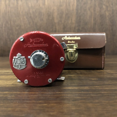 Abu Record Ambassadeur 5000 Svangsta Red With Case アブ レコード アンバサダー ベイトキャスティングリール オリジナル ビンテージ