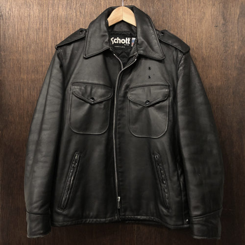Schott #602 Policeman Leather Jacket 38 ショット ポリスマン レザー ジャケット サイズ38 ブラック ビンテージ