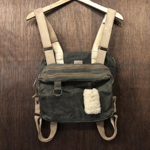 Filson Fly Fishing Tackle Chest Pack Vintage Vest フィルソン フライフィッシング タックル チェスト パック オイルド ダークオリーブカラー ビンテージモデル オリジナル
