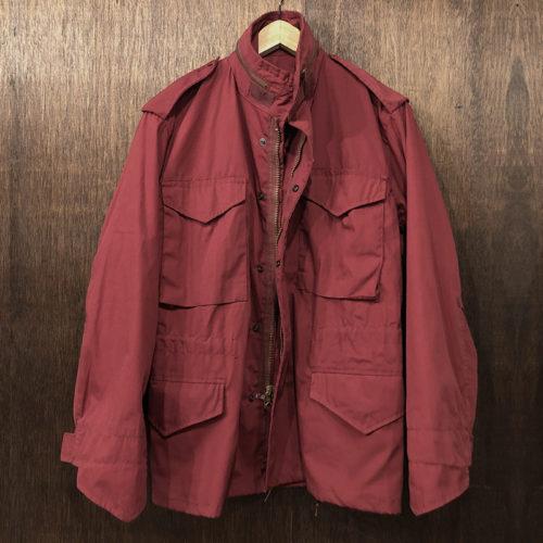 M-65 Field Jacket Carmine Red Alpha XS Reg Deadstock M65 フィールドジャケット レッド アルファ社製 ビンテージ オリジナル デッドストック