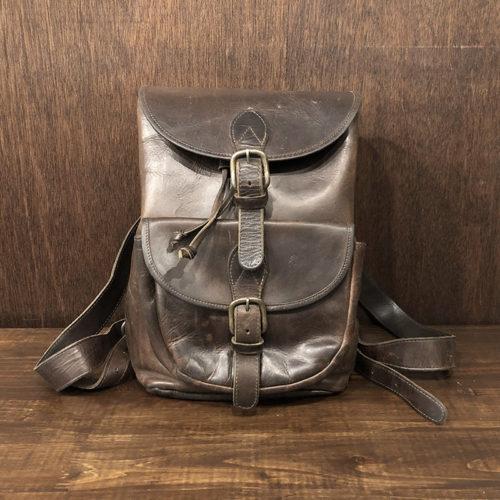 Vintage Heavy Fullgrain Leather Rucksack Bag ビンテージ 本革 フルグレイン プルアップ レザー リュックサック バッグ