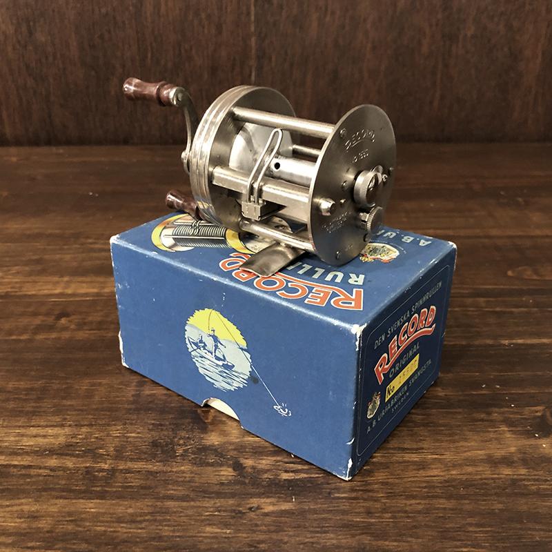 Abu Record Rullen 1550C Direct Bait Casting Reel With Box アブ レコード ダイレクト ベイトキャスティングリール オリジナルボックス付属 ビンテージ