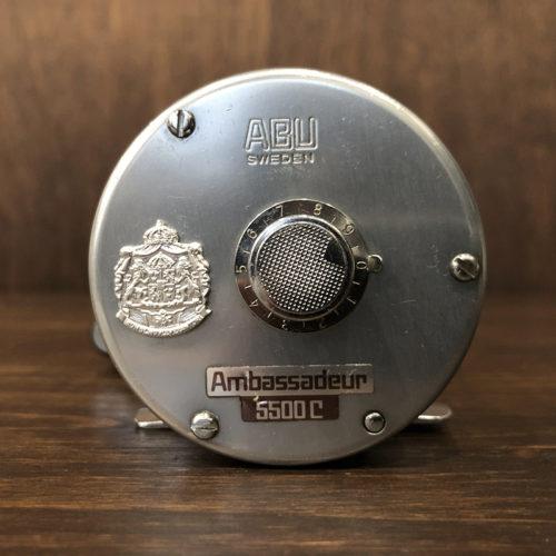 Abu Ambassadeur 5500C Bait Casting Reel 771003 アブ アンバサダー 5500C シルバー 1977年 ベイトキャスティングリール オリジナル ビンテージ